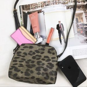 Furla Leopard Print Mini Crossbody Bag